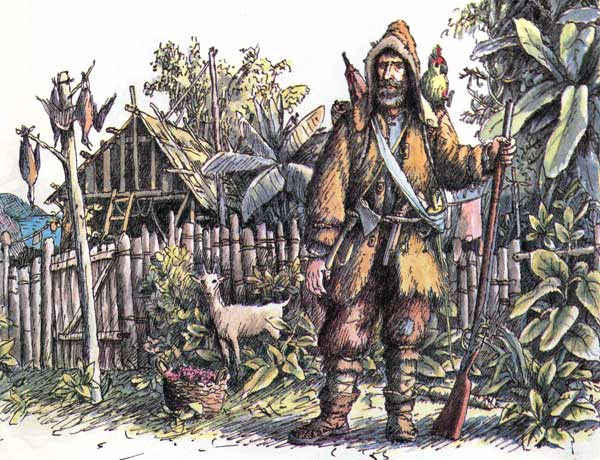 robinson crusoe survival essay
